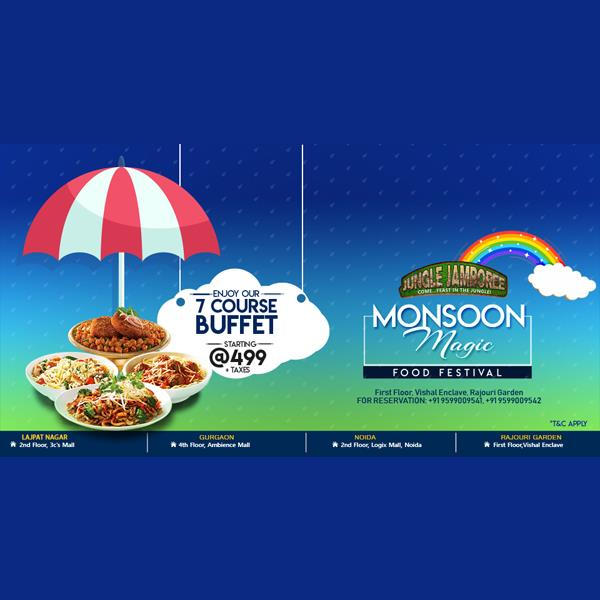 Monsoon Magic Food Festival with 7 Course Buffet at JJ