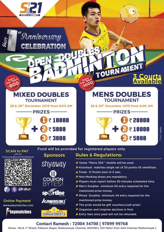OPEN Doubles Badminton Tournament