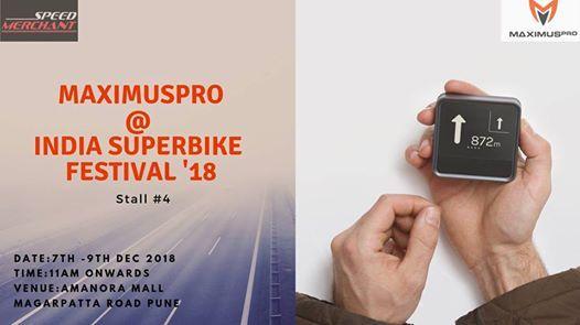 MaximusPro at India SuperBike Festival 2018