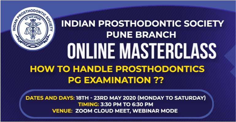 Online Masterclass: how to handle Prosthodontics PG examination??