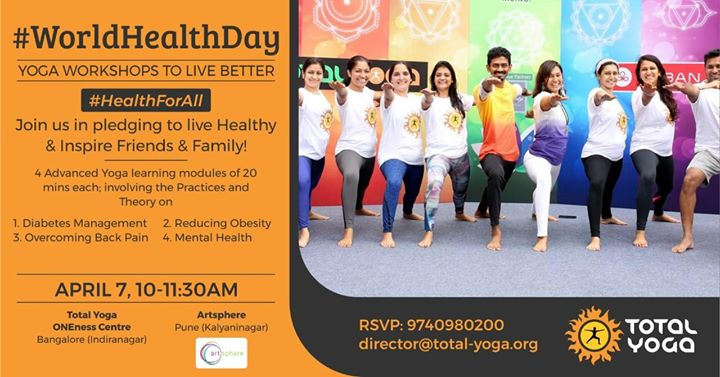 WORLD Health DAY: Yoga Workshops to Live Better